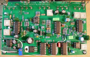 ADA Flanger clone PCB populated